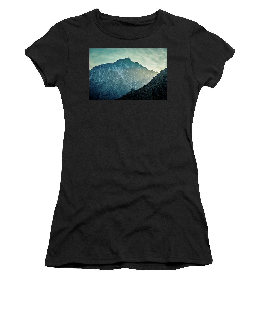 Lone Pine Peak Women's T-Shirt (Athletic Fit) featuring the photograph Lone Pine Peak by Mike Penney