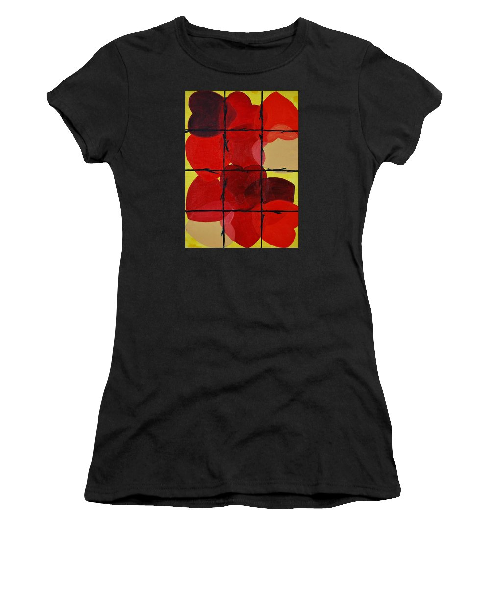 Love Women's T-Shirt featuring the painting Love No Categories Please by Charla Van Vlack