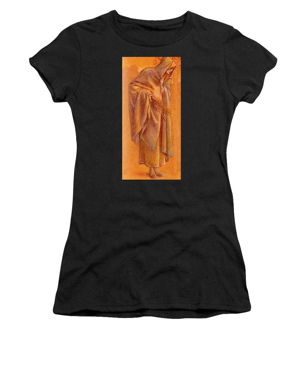 Melchoir Women's T-Shirt (Athletic Fit) featuring the painting Melchoir Picture by BurneJones Edward
