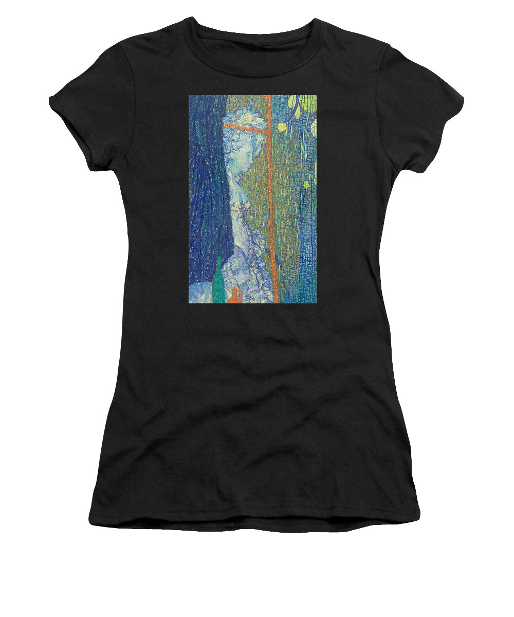 Beauty Women's T-Shirt featuring the painting Model by Robert Nizamov