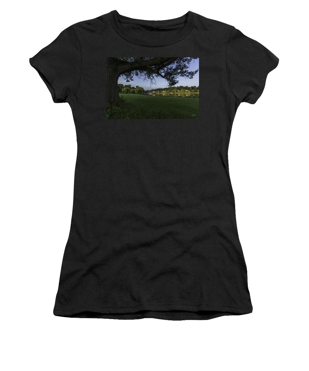 Onondaga Park Women's T-Shirt featuring the photograph Morning In The Park by Everet Regal