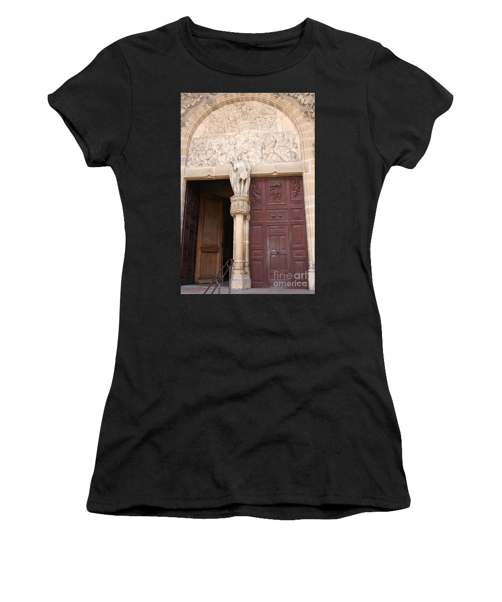 Door Women's T-Shirt featuring the photograph Old Church Door by Christiane Schulze Art And Photography