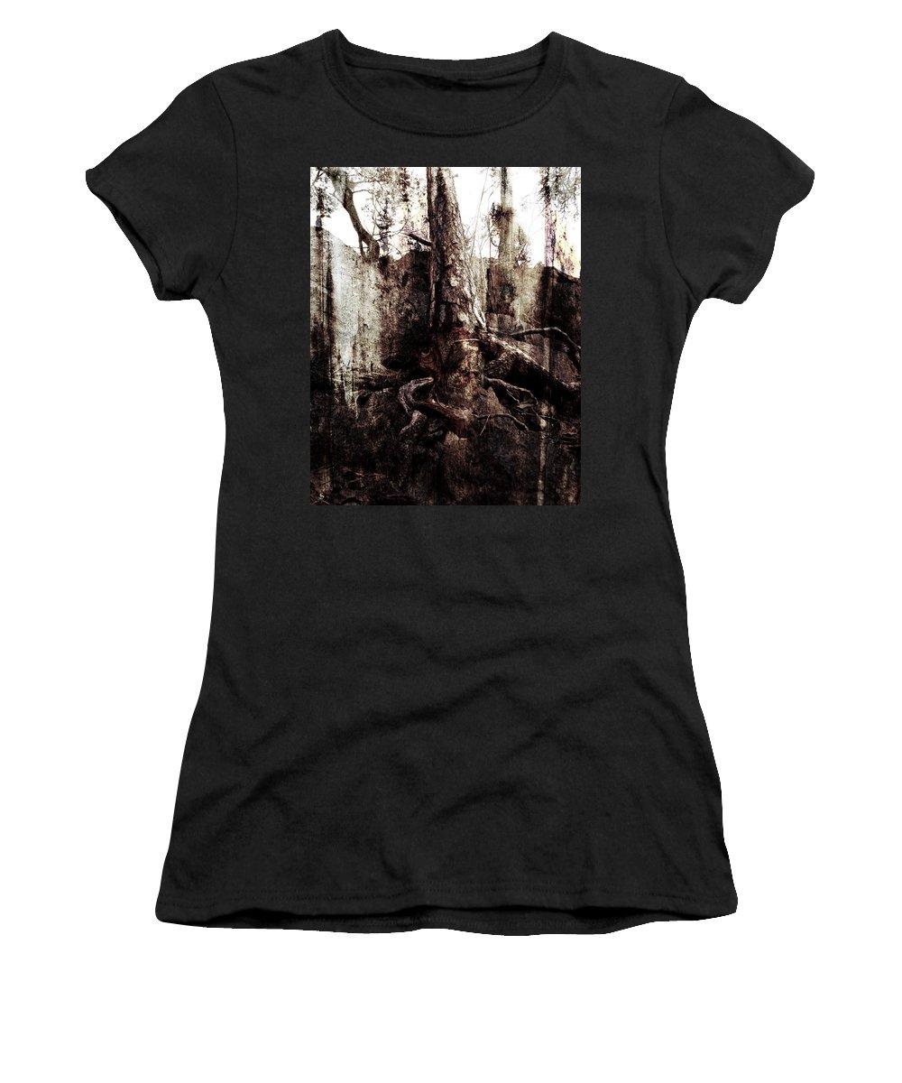 Tree Women's T-Shirt (Athletic Fit) featuring the digital art Old One by Ken Walker