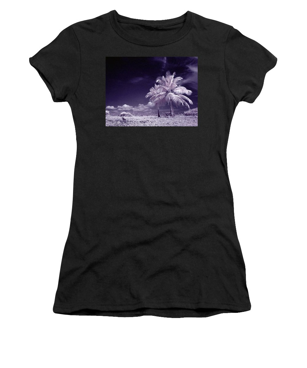 Infrared Women's T-Shirt (Athletic Fit) featuring the photograph Palms by Galeria Trompiz