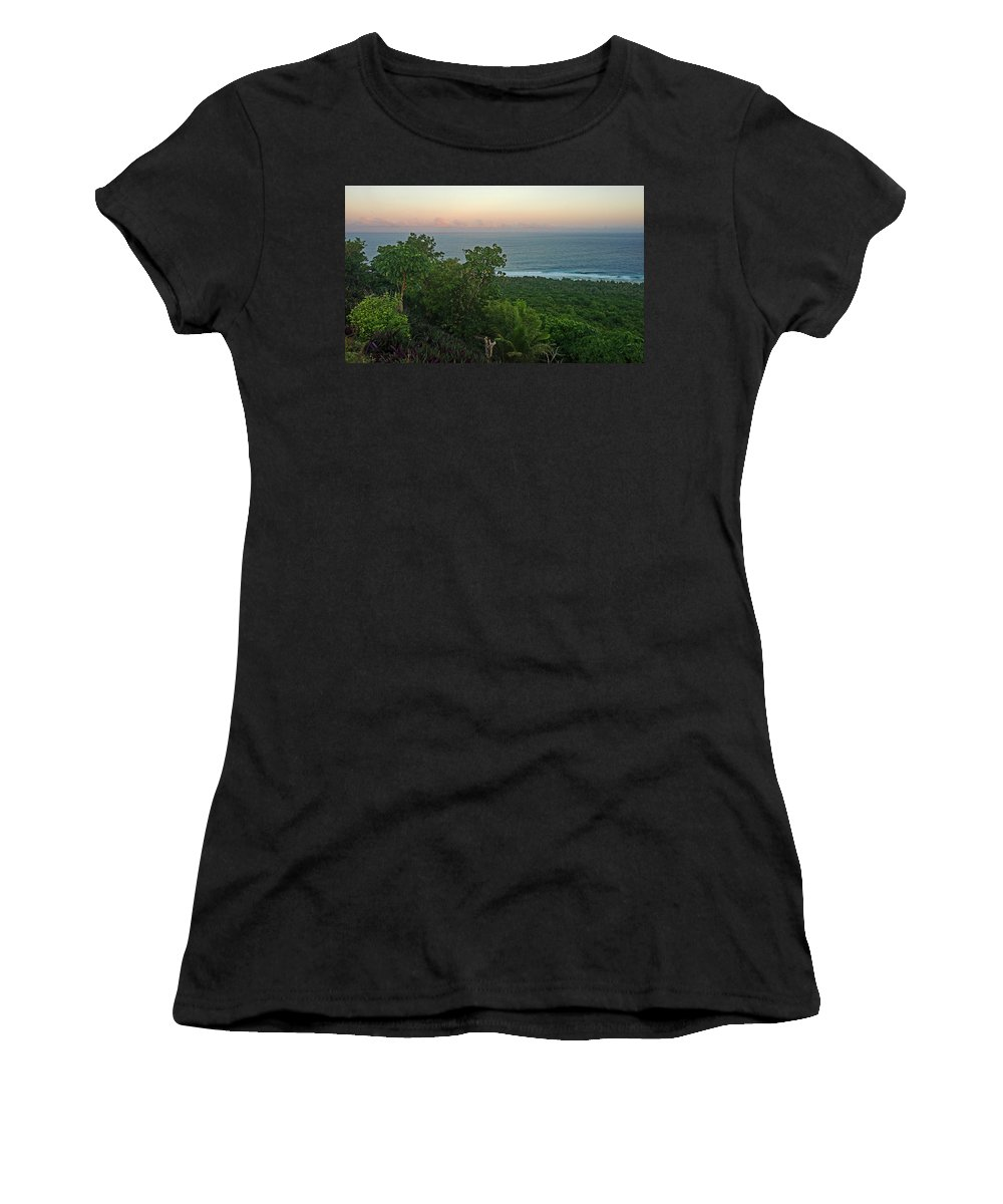 Sunrise Women's T-Shirt (Athletic Fit) featuring the photograph Quam Sunrise by Eric Nelson