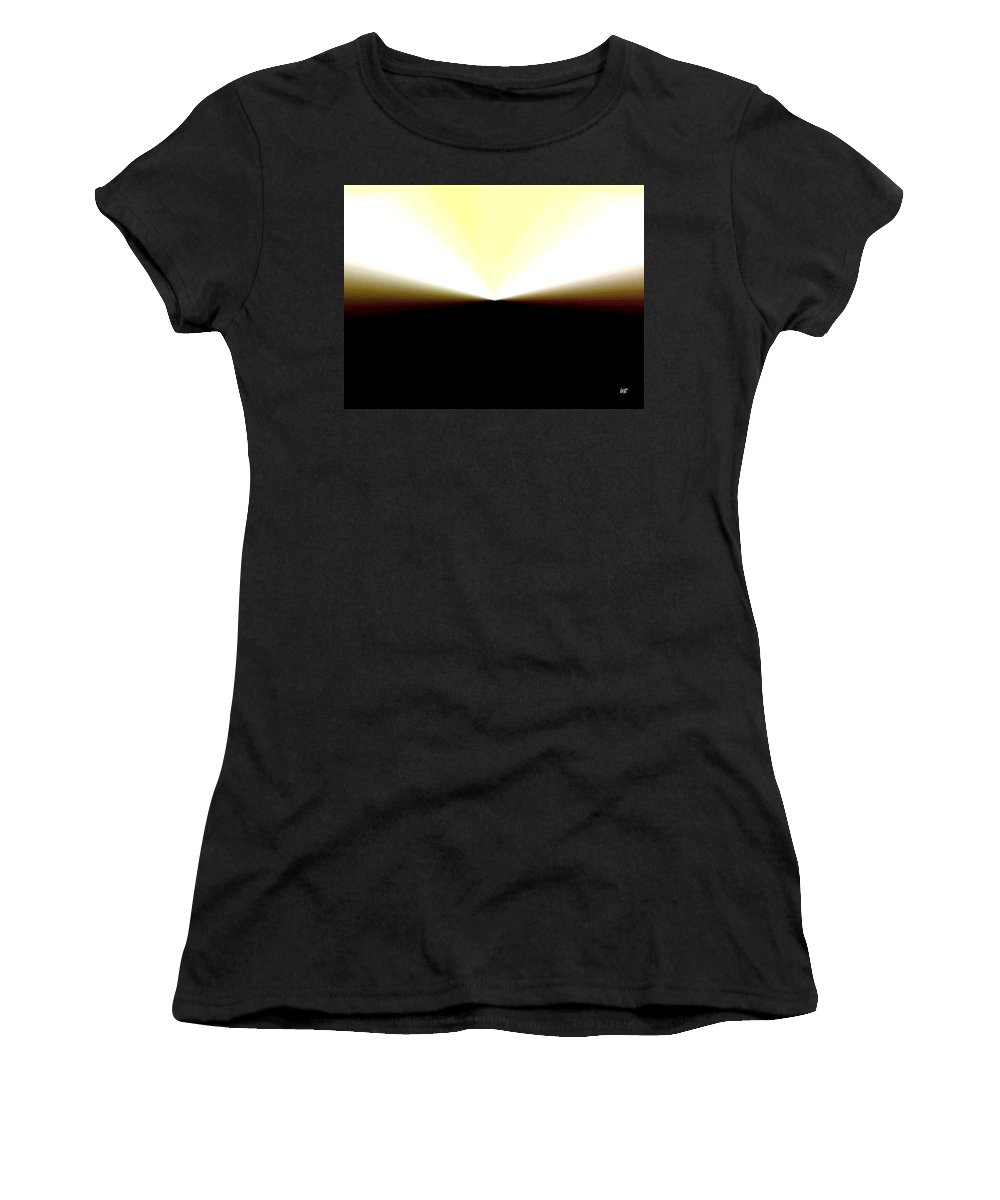 Abstract Women's T-Shirt (Athletic Fit) featuring the digital art Radiation by Will Borden