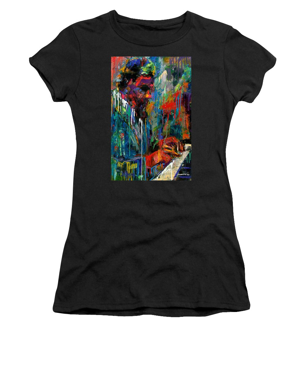 Painting Women's T-Shirt (Athletic Fit) featuring the painting Round Midnight by Debra Hurd