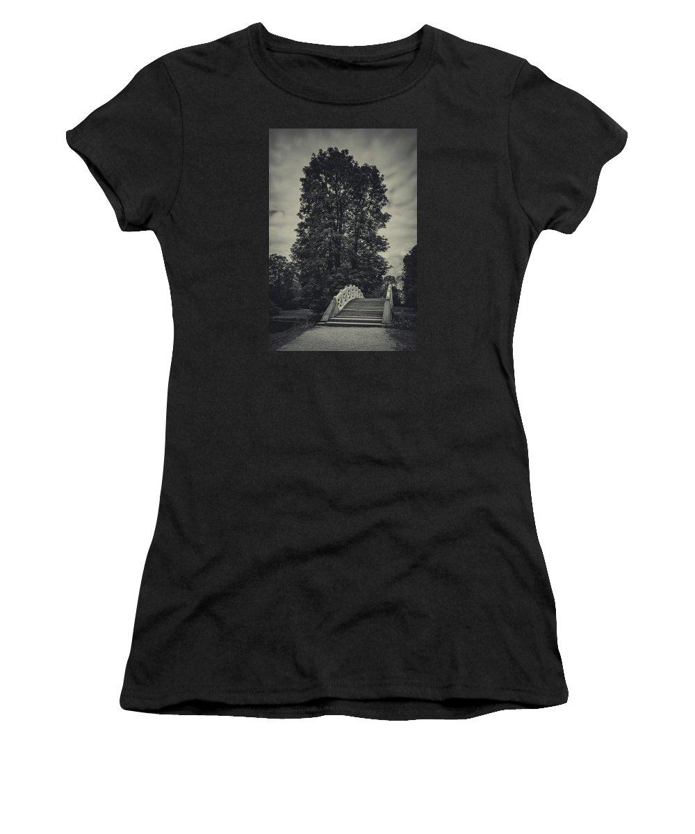 Chestnut Tree Women's T-Shirt (Athletic Fit) featuring the photograph Schwetzingen Castle Park by Duschan Tomic