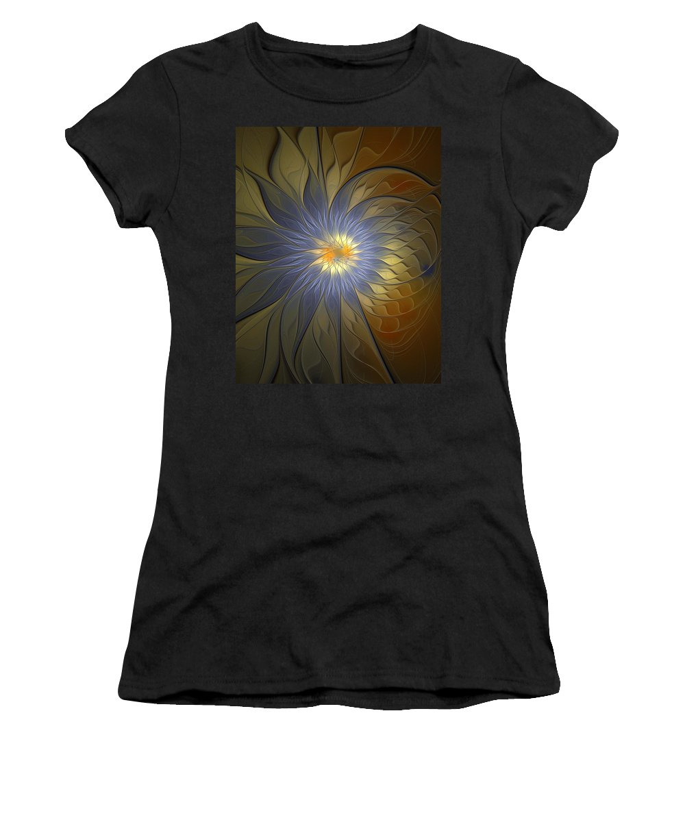 Digital Art Women's T-Shirt (Athletic Fit) featuring the digital art Something Blue by Amanda Moore