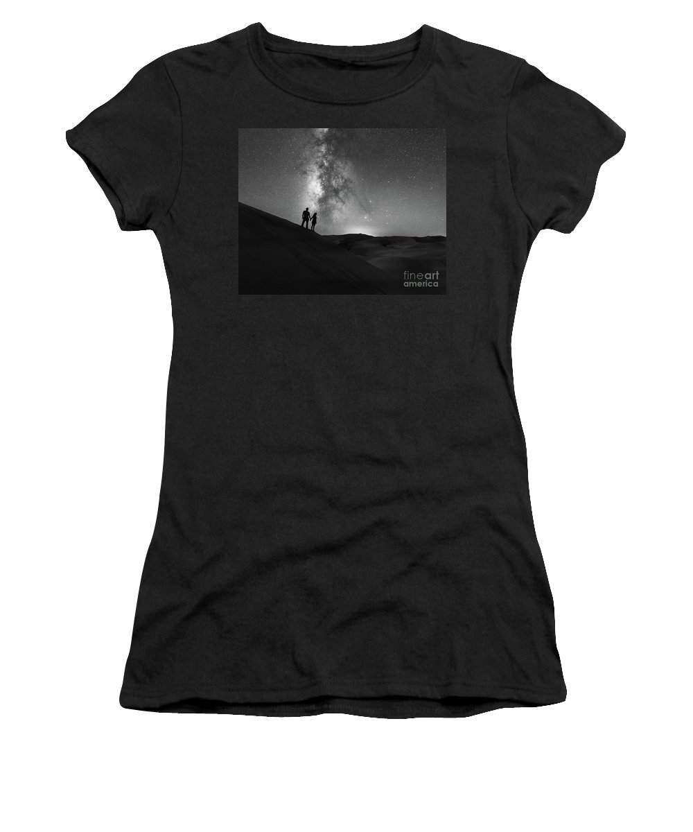 Star Crossed Lovers Women's T-Shirt featuring the photograph Star Crossed Lovers At Night by Michael Ver Sprill