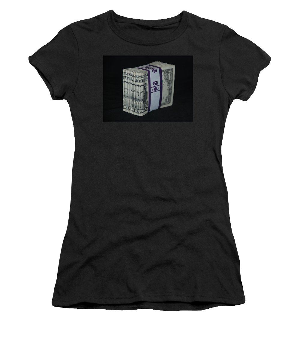 Money Women's T-Shirt (Athletic Fit) featuring the photograph Stripper Stack by Rob Hans