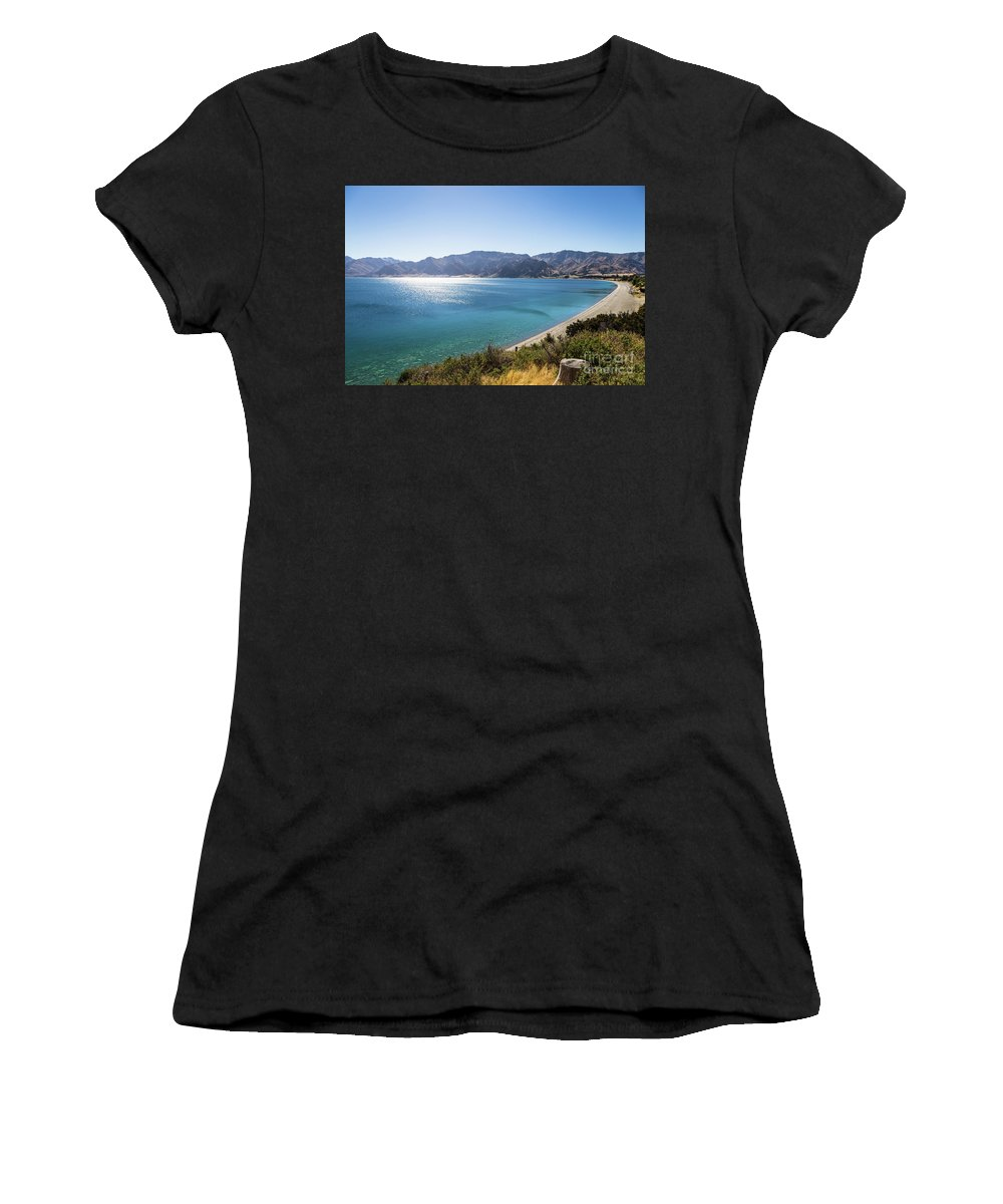 New Zealand Women's T-Shirt (Athletic Fit) featuring the photograph Stunning Hawea Lake In New Zealand by Didier Marti
