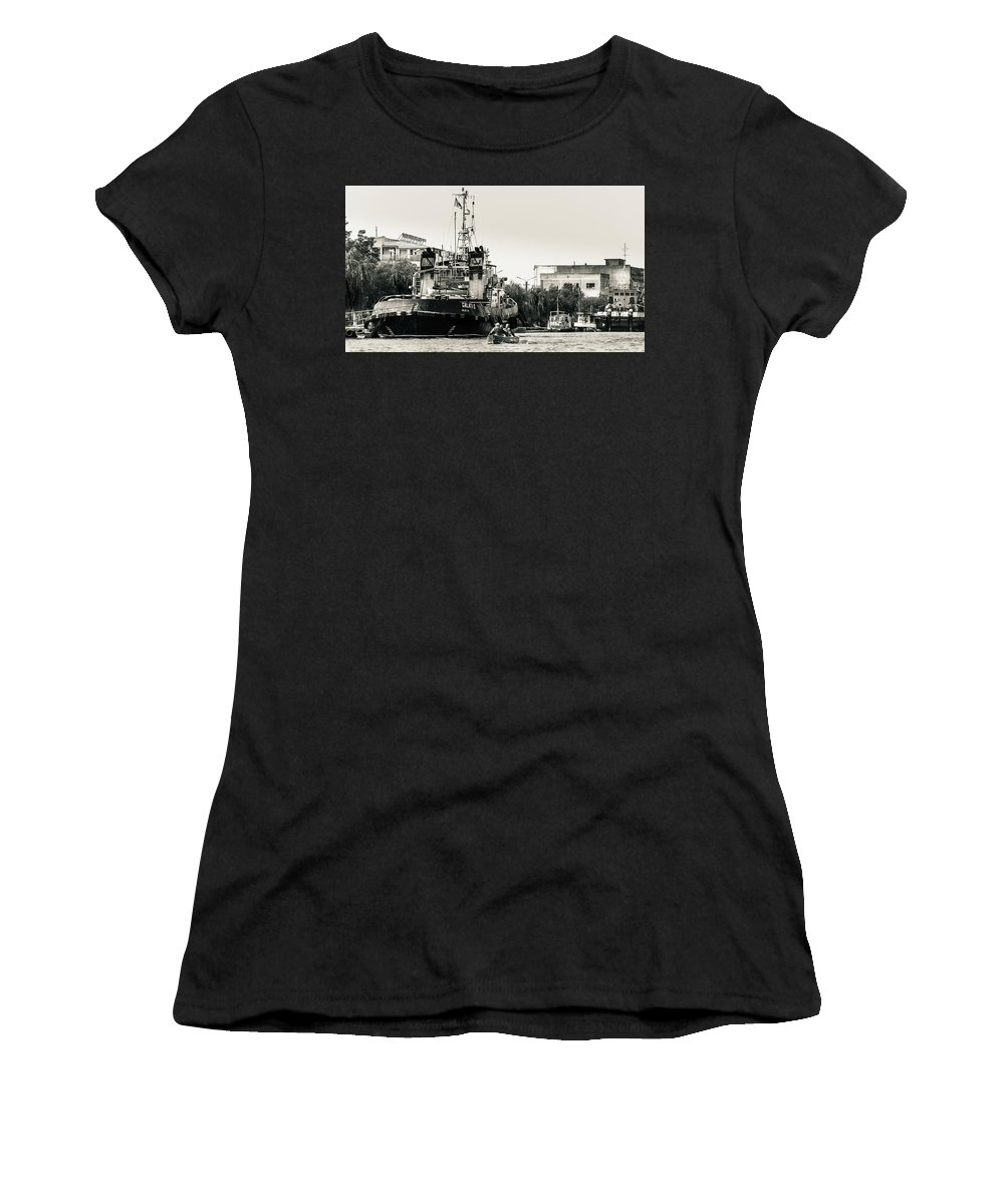 Sulina Women's T-Shirt (Athletic Fit) featuring the photograph Sulina by Dan Balica