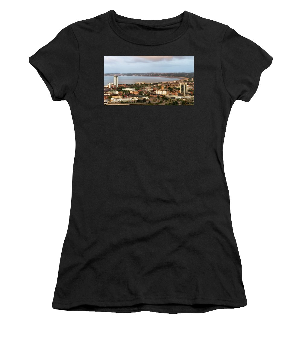 Swansea Women's T-Shirt featuring the photograph Swansea Bay South Wales by Leighton Collins