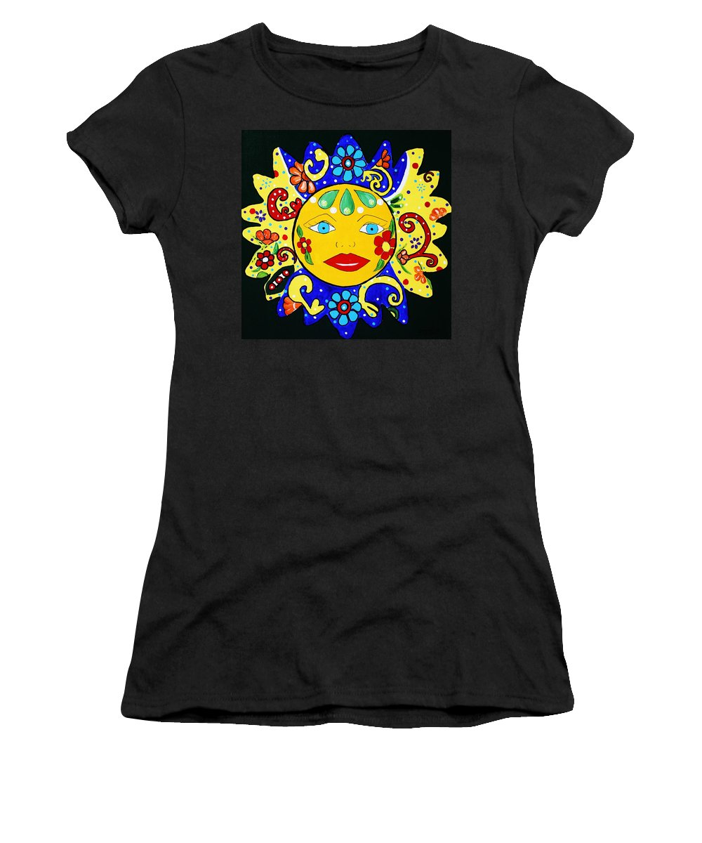 Talavera Women's T-Shirt featuring the painting Talavera Sun by Melinda Etzold