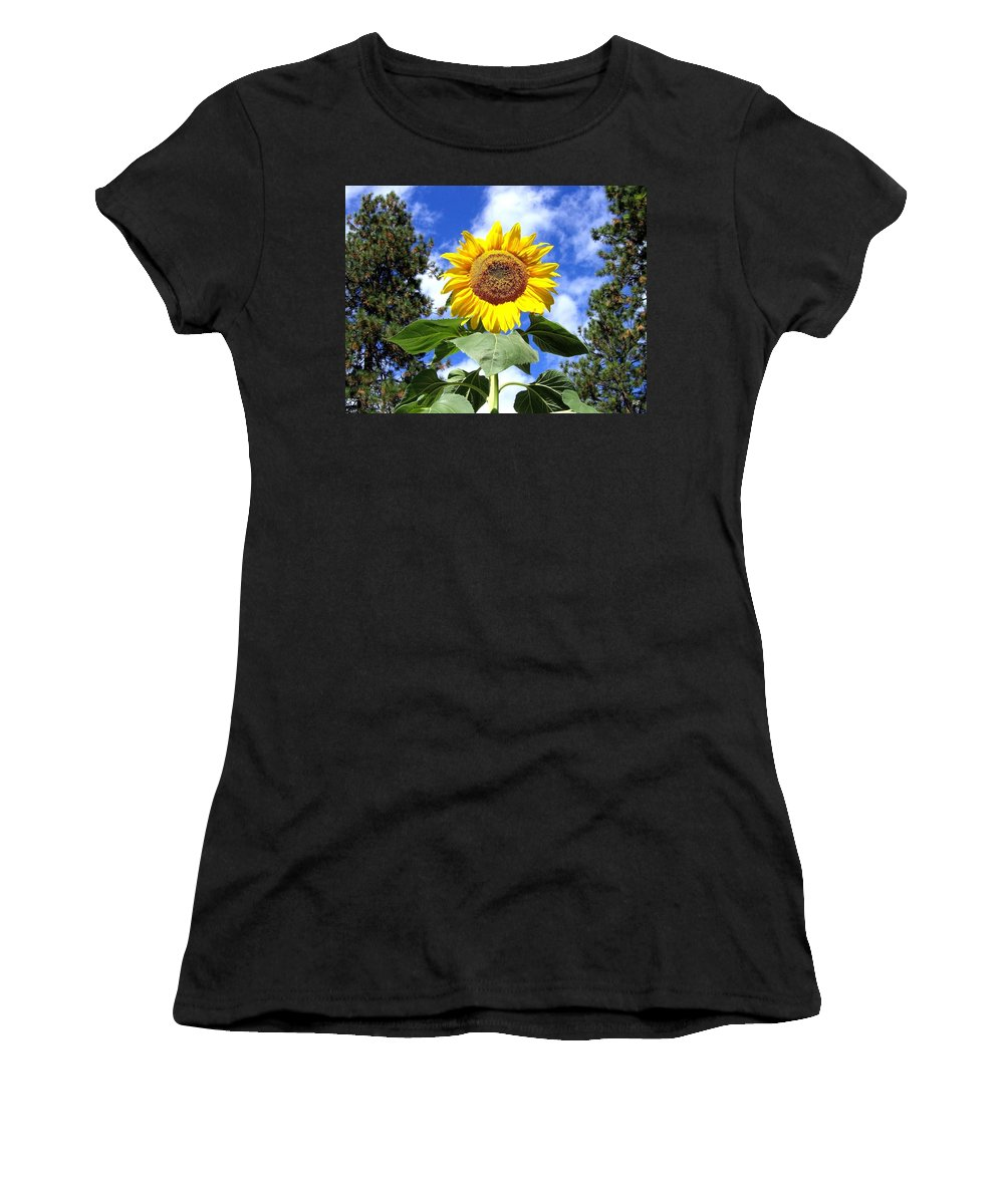 Sunflower Women's T-Shirt (Athletic Fit) featuring the photograph Tall And Sunny by Will Borden