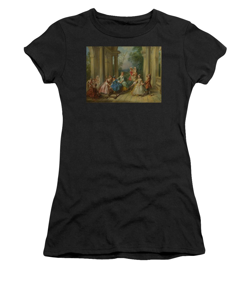 Nicolas Women's T-Shirt (Athletic Fit) featuring the digital art The Four Ages Of Man  Childhood by PixBreak Art