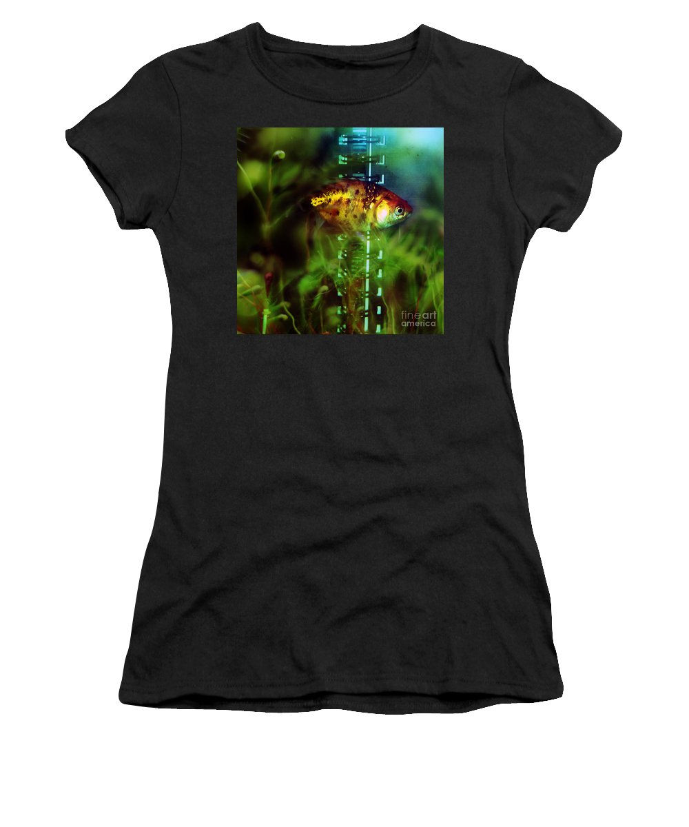 Fish Women's T-Shirt (Athletic Fit) featuring the photograph The Goldfish by Angel Ciesniarska