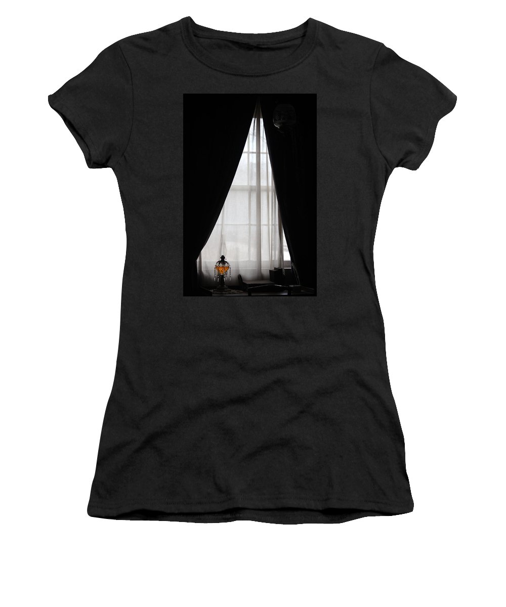 Women's T-Shirt (Athletic Fit) featuring the photograph The Poet's Room by The Art Of Marilyn Ridoutt-Greene