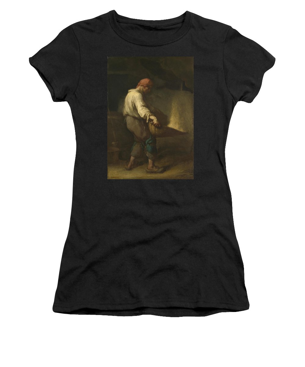 Jean Women's T-Shirt (Athletic Fit) featuring the digital art The Winnower by PixBreak Art