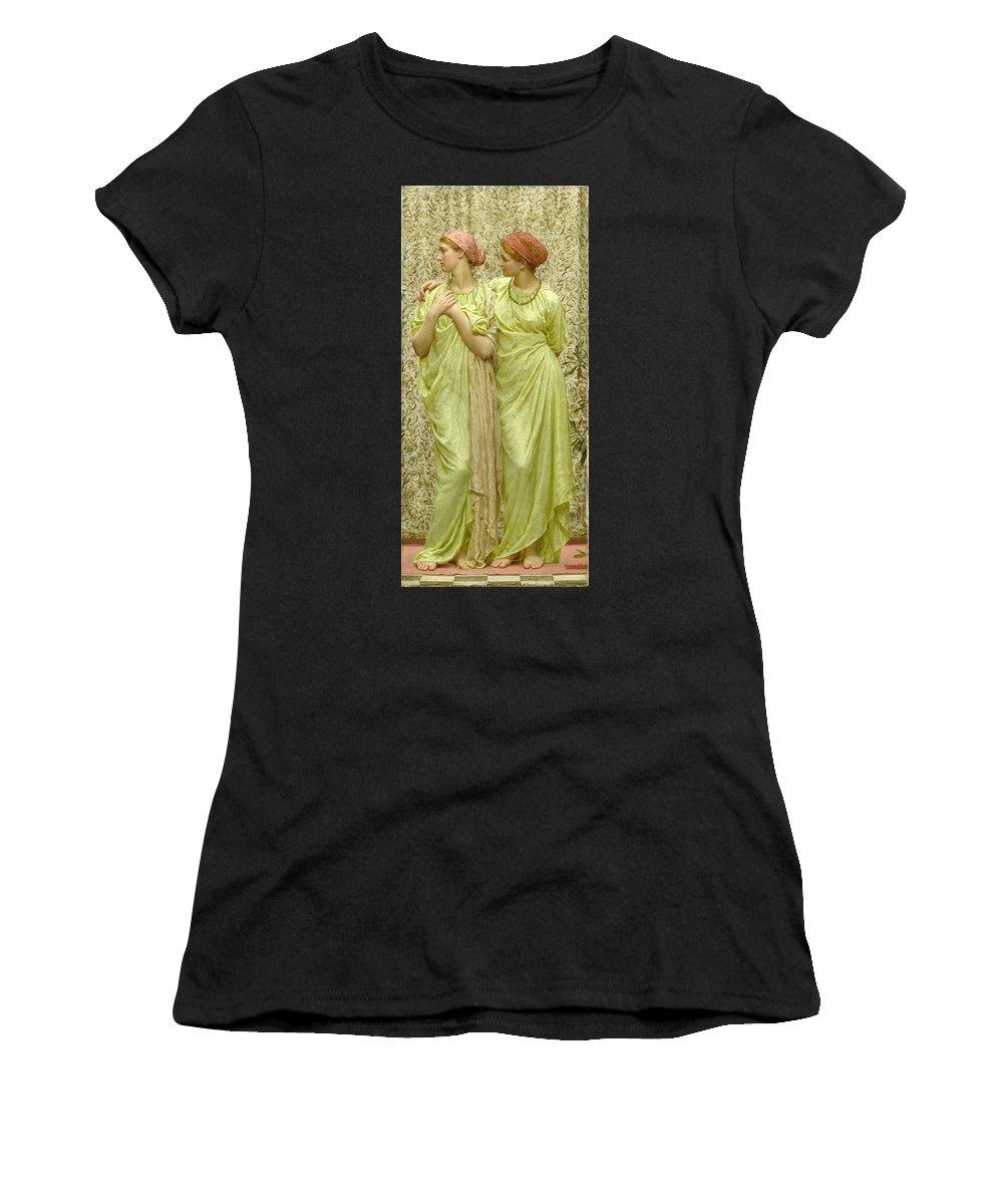Albert Joseph Moore Women's T-Shirt (Athletic Fit) featuring the painting Topaz by Albert Joseph Moore