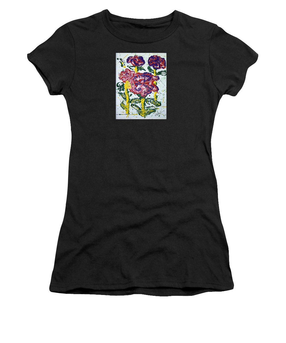 Abstract Painting Women's T-Shirt featuring the painting Untitled by J R Seymour