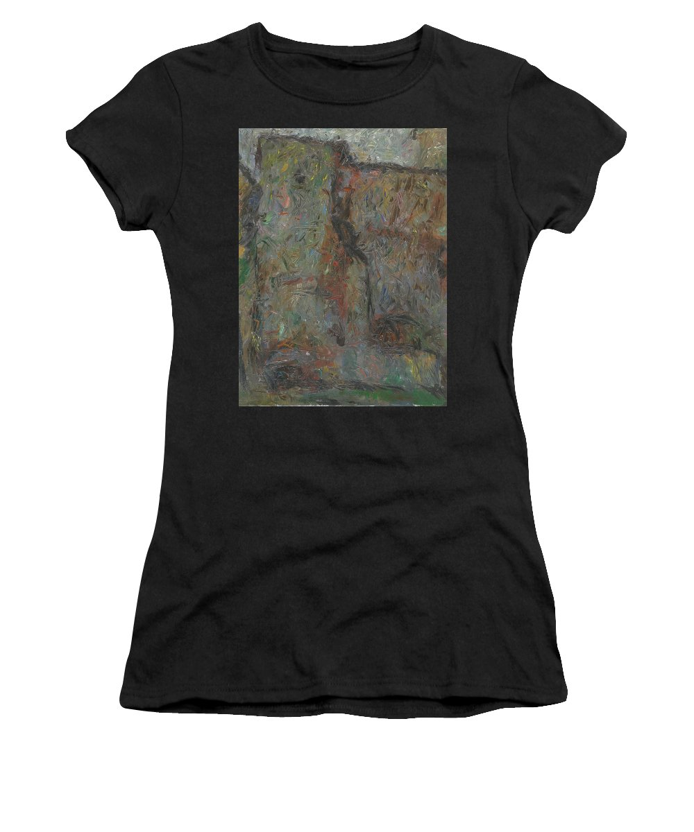 Wall Women's T-Shirt featuring the painting Wall by Robert Nizamov