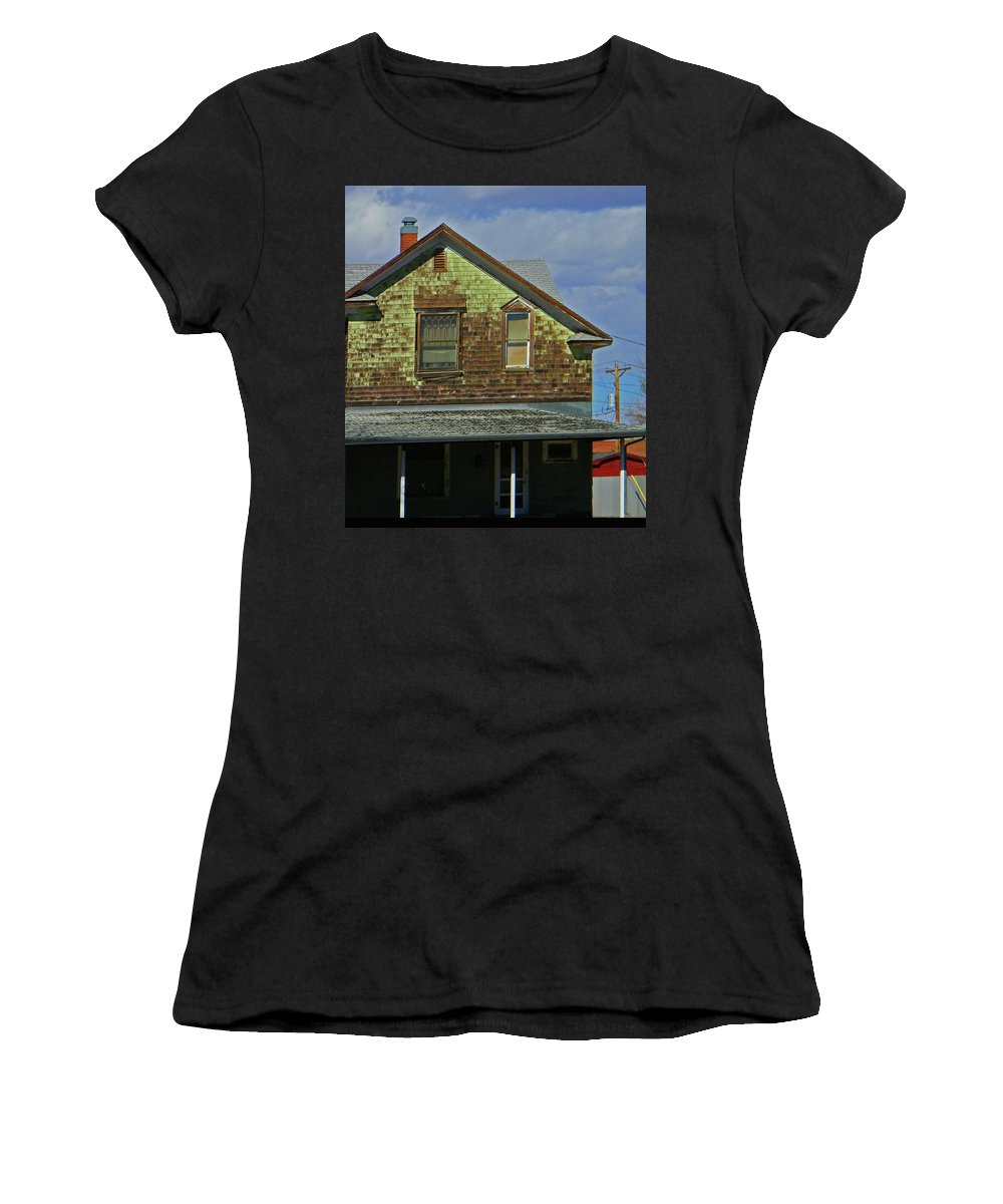 Abstract Women's T-Shirt featuring the photograph Weather by Lenore Senior