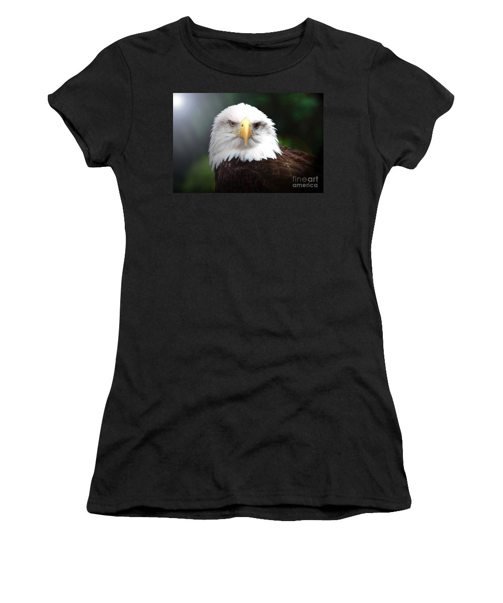 Bird Women's T-Shirt (Athletic Fit) featuring the photograph Where Eagles Dare 4 by Randy Matthews