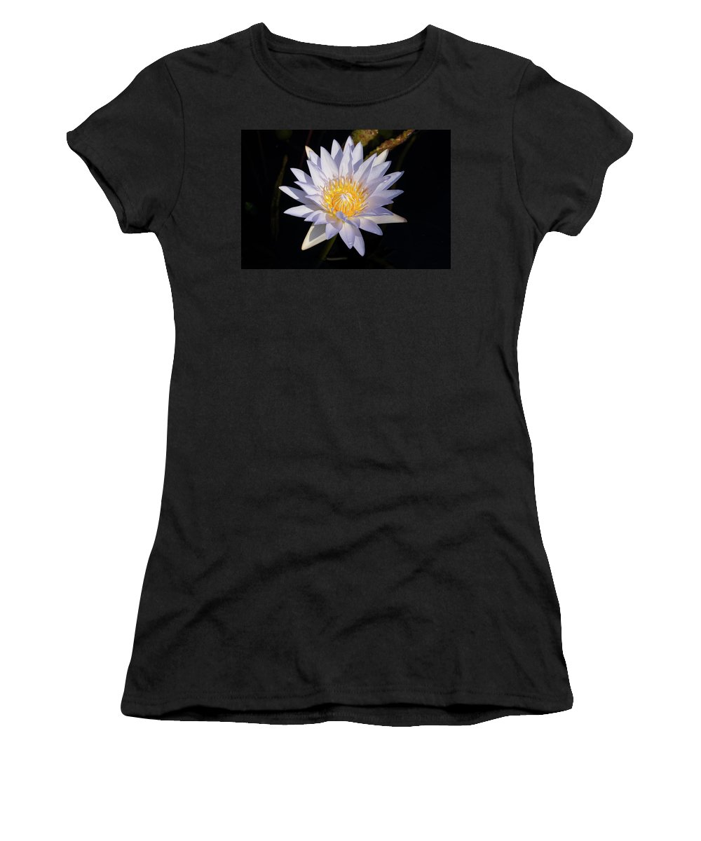 Water Lily Women's T-Shirt (Athletic Fit) featuring the photograph White Water Lily by Steve Stuller