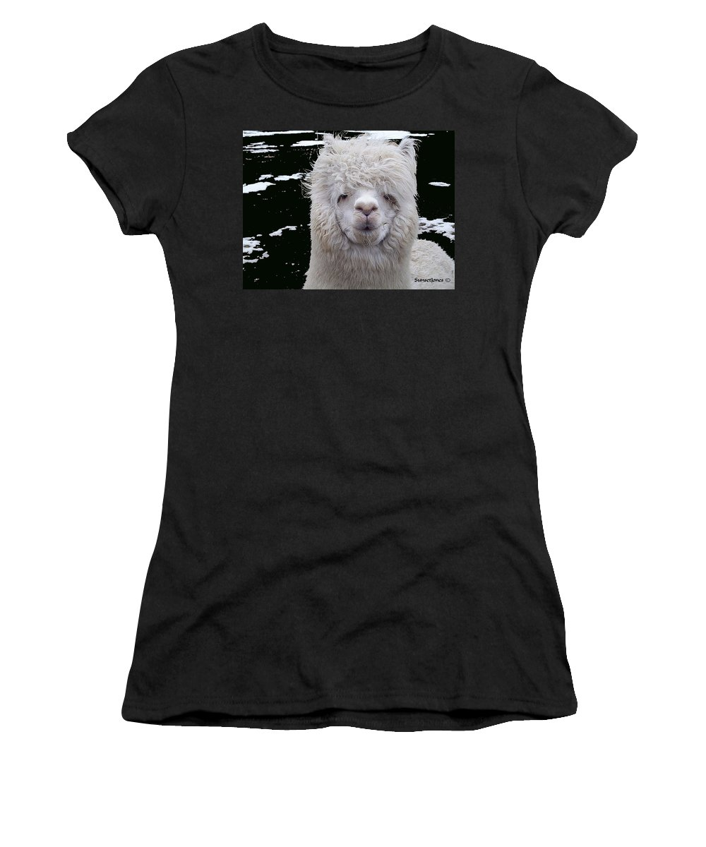 Alpaca Women's T-Shirt (Athletic Fit) featuring the digital art Wild Life by Robert Orinski