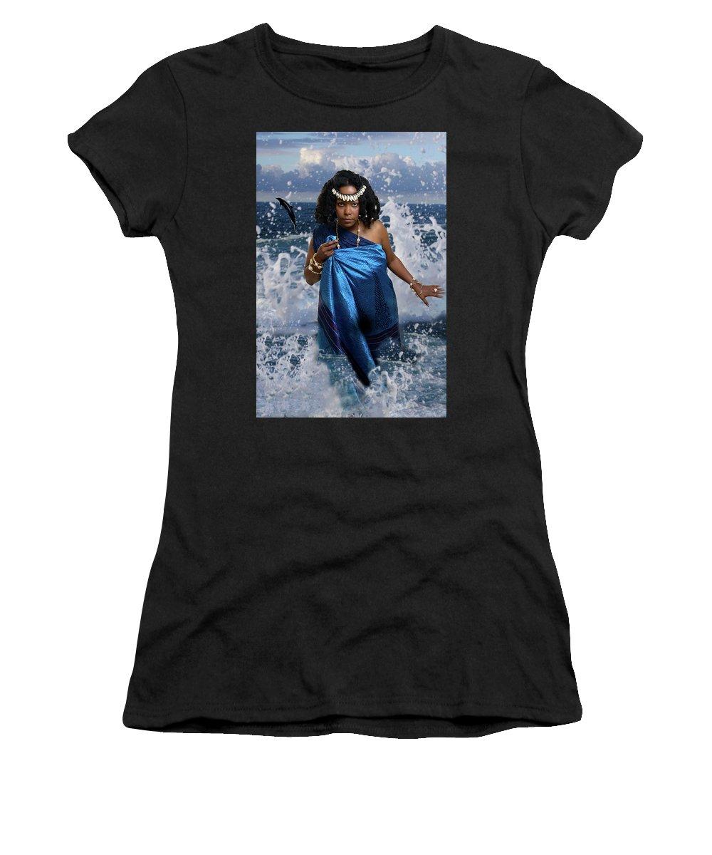 Goddess Women's T-Shirt (Athletic Fit) featuring the photograph Yemaya by David Clanton