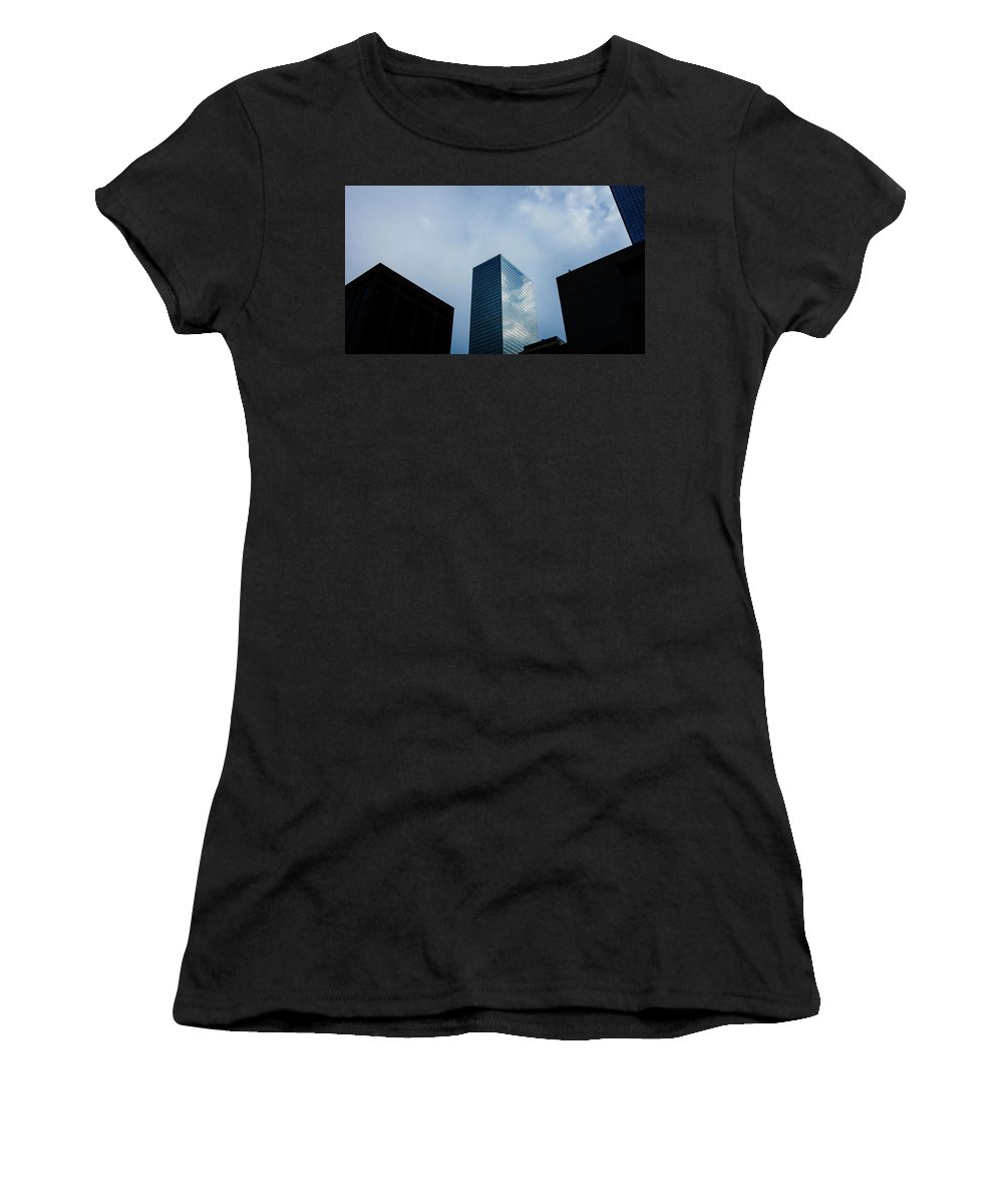 Architecture Women's T-Shirt (Athletic Fit) featuring the photograph Denver Building Study by CEB Imagery