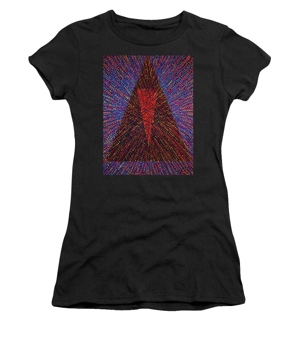 Inspirational Women's T-Shirt (Athletic Fit) featuring the painting Mobius Band by Kyung Hee Hogg