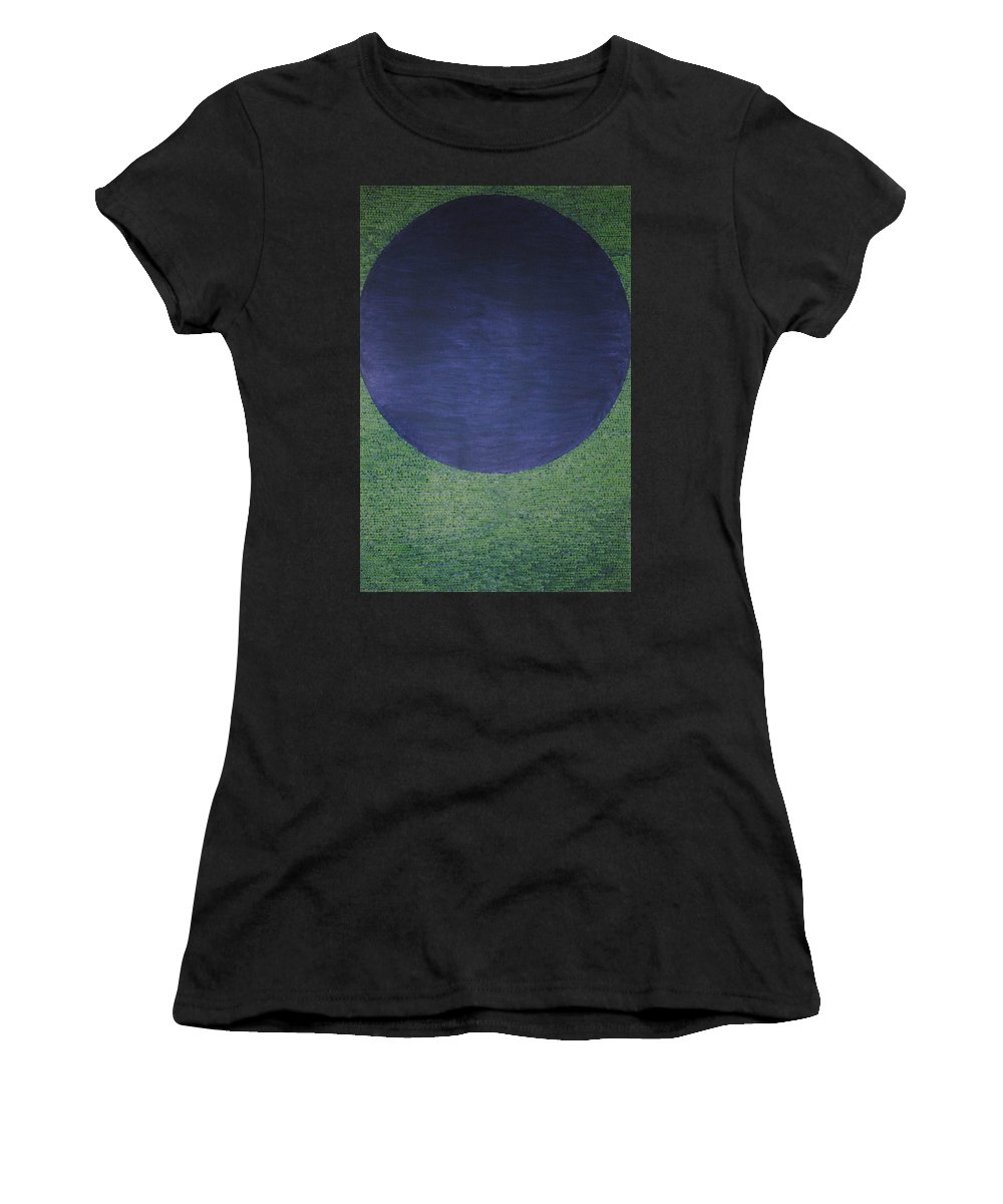 Inspirational Women's T-Shirt (Athletic Fit) featuring the painting Perfect Existence by Kyung Hee Hogg