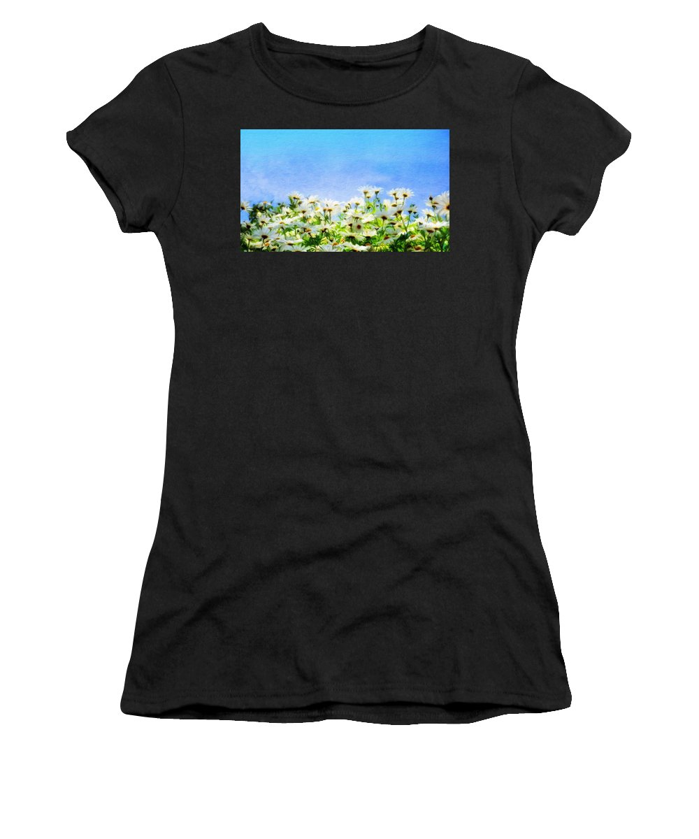 Landscape Women's T-Shirt (Athletic Fit) featuring the painting Nature New Landscape by World Map