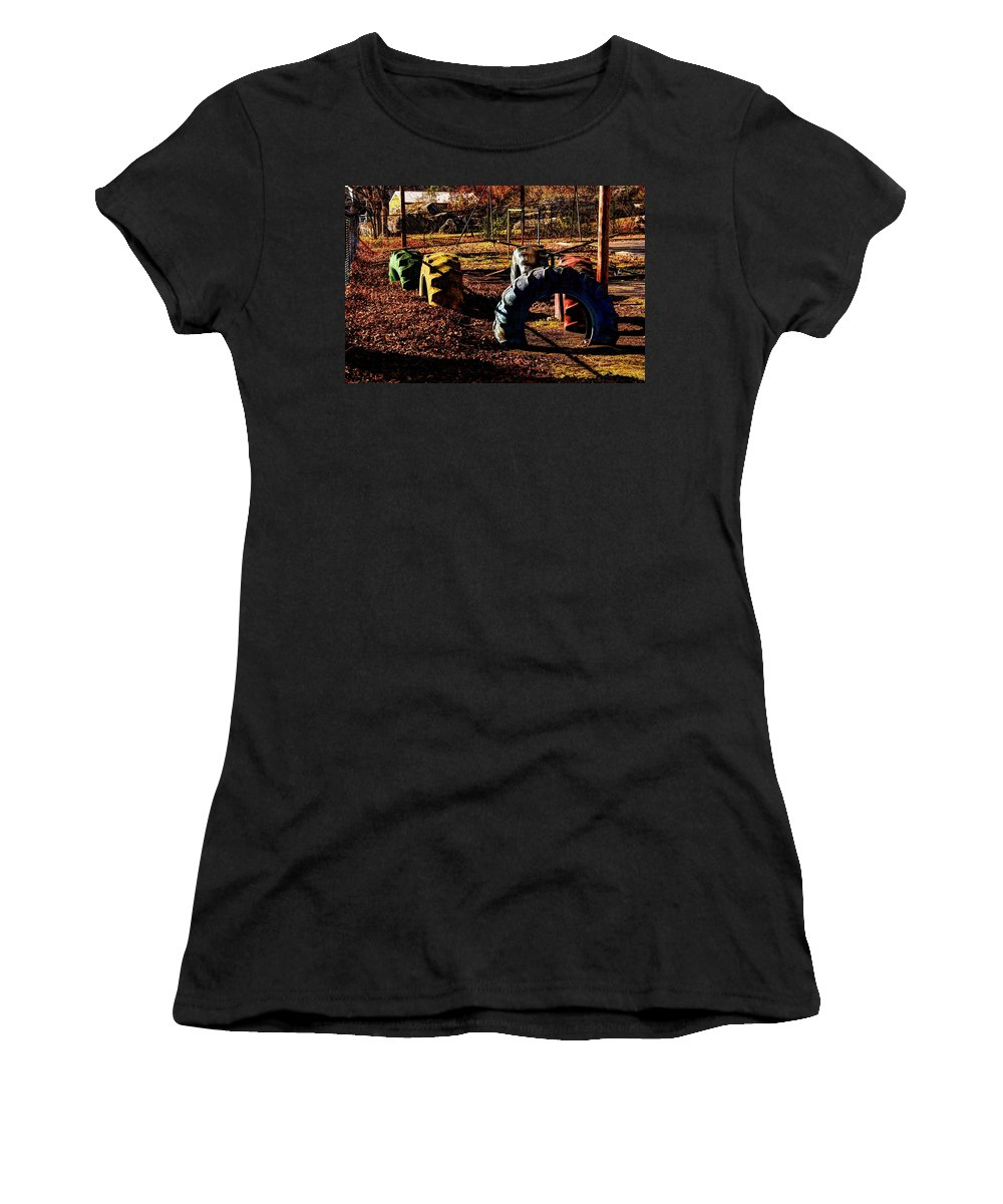 Hocking Hills Women's T-Shirt (Athletic Fit) featuring the photograph Hocking Hills by David Kelso