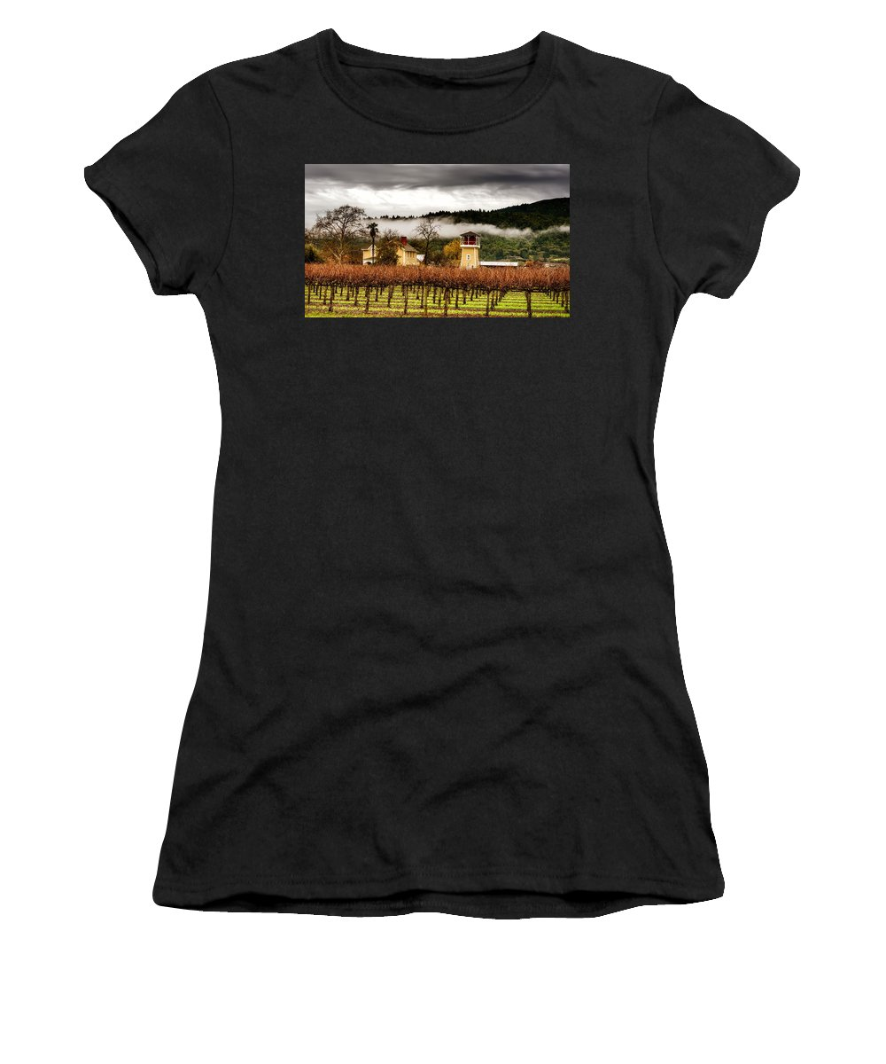 Napa Valley Women's T-Shirt featuring the photograph Napa Valley Vineyard by Mountain Dreams