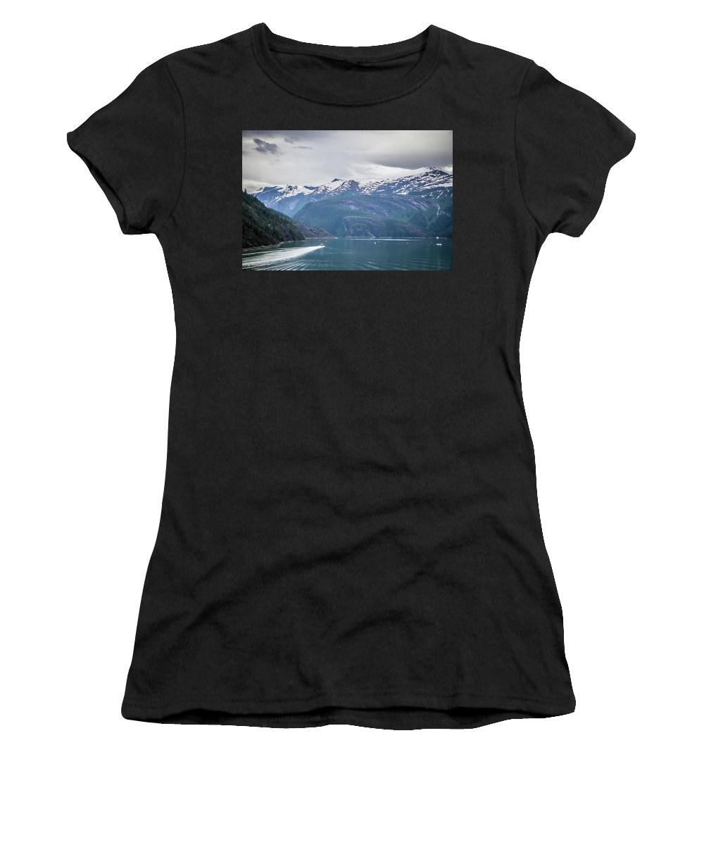 Mountains Women's T-Shirt featuring the photograph Beautiful Landscape In Alaska Mountains by Alex Grichenko