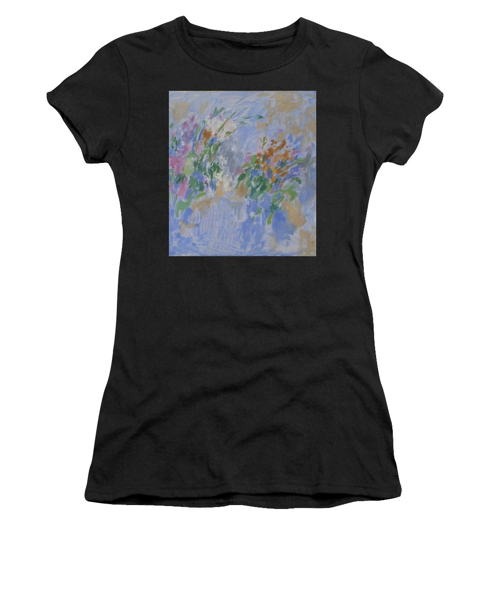 Bouquet Women's T-Shirt featuring the painting Flowers by Robert Nizamov