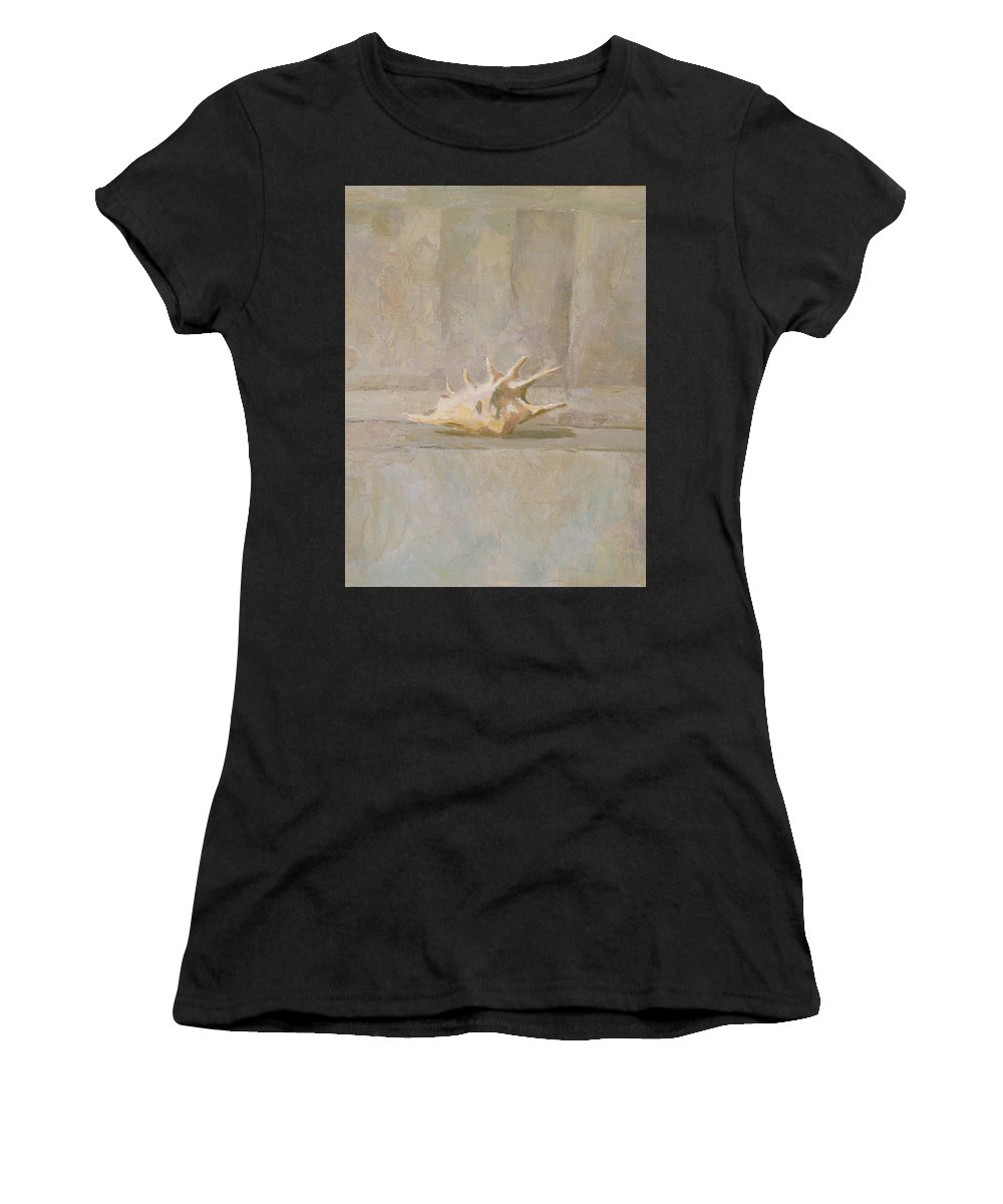 Shell Women's T-Shirt featuring the painting Still Life by Robert Nizamov