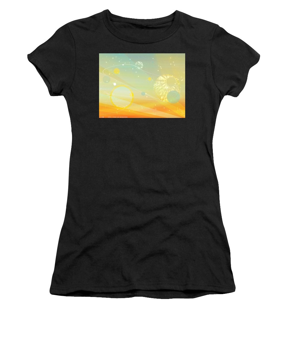 Vector Women's T-Shirt (Athletic Fit) featuring the digital art Vector by Mery Moon