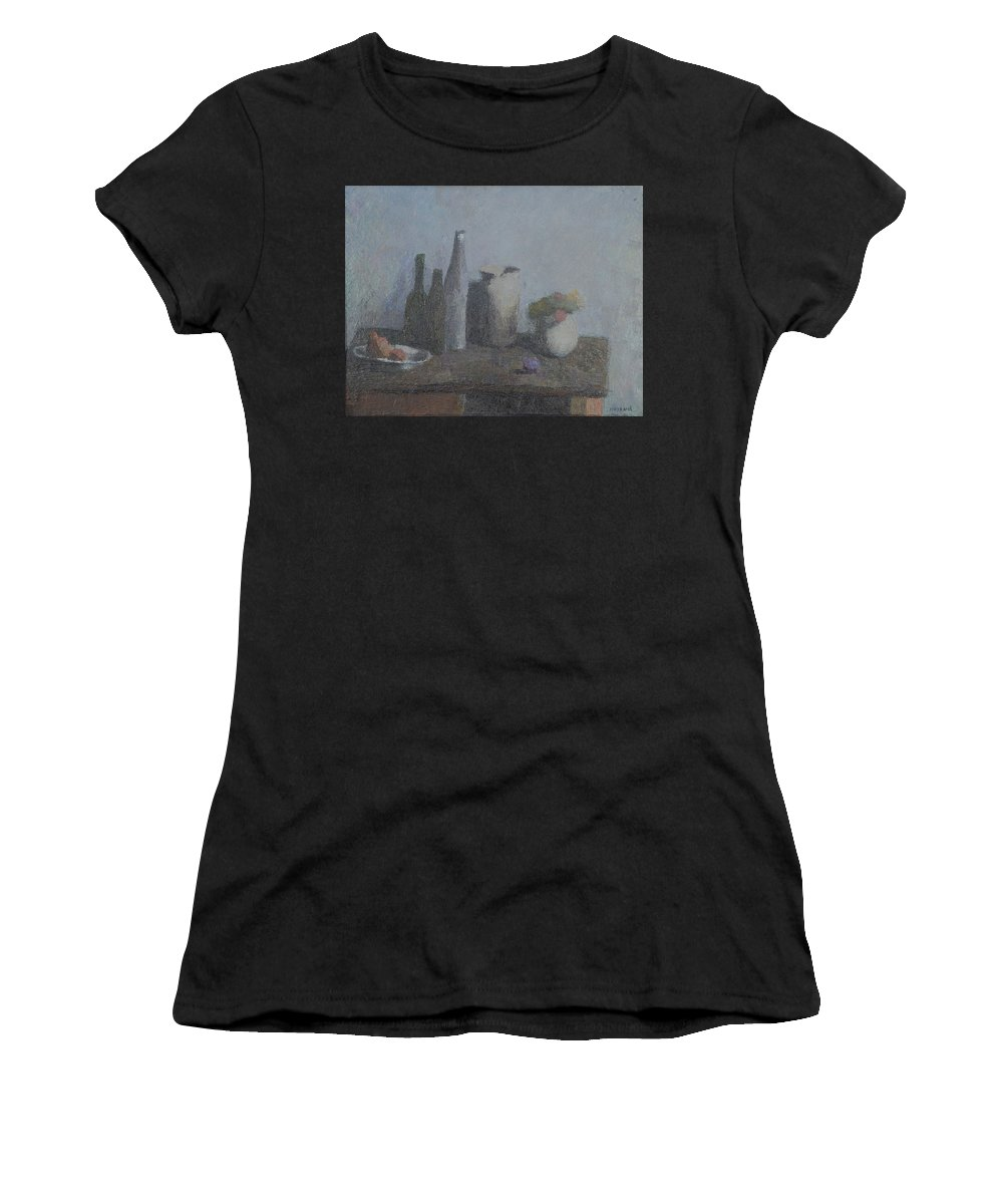 Bottle Women's T-Shirt featuring the painting Still Life by Robert Nizamov