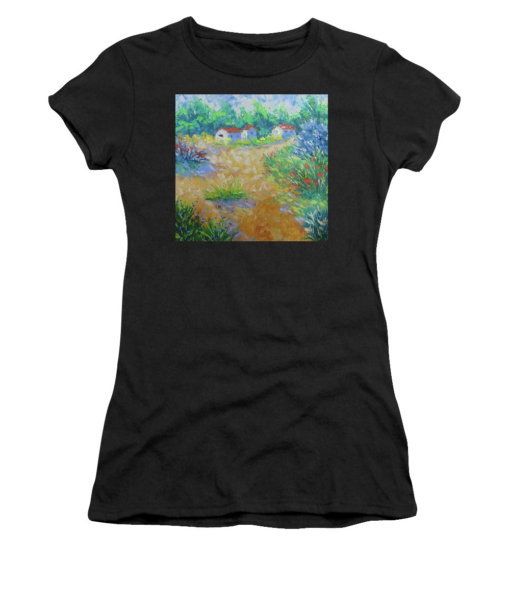Frederic Payet Women's T-Shirt featuring the painting Provence by Frederic Payet