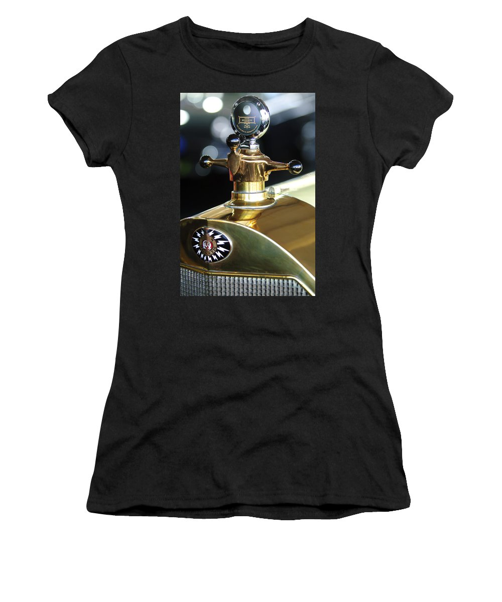 1917 Owen Magnetic M-25 Touring Women's T-Shirt (Athletic Fit) featuring the photograph 1917 Owen Magnetic M-25 Hood Ornament by Jill Reger