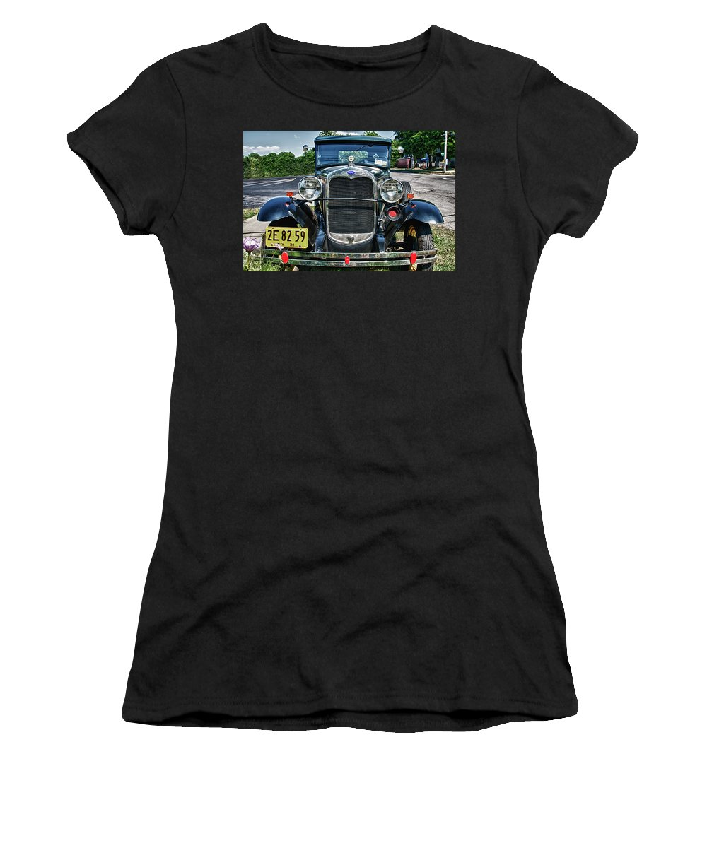 1931 Ford Women's T-Shirt featuring the photograph 1931 Ford 7374 by Guy Whiteley