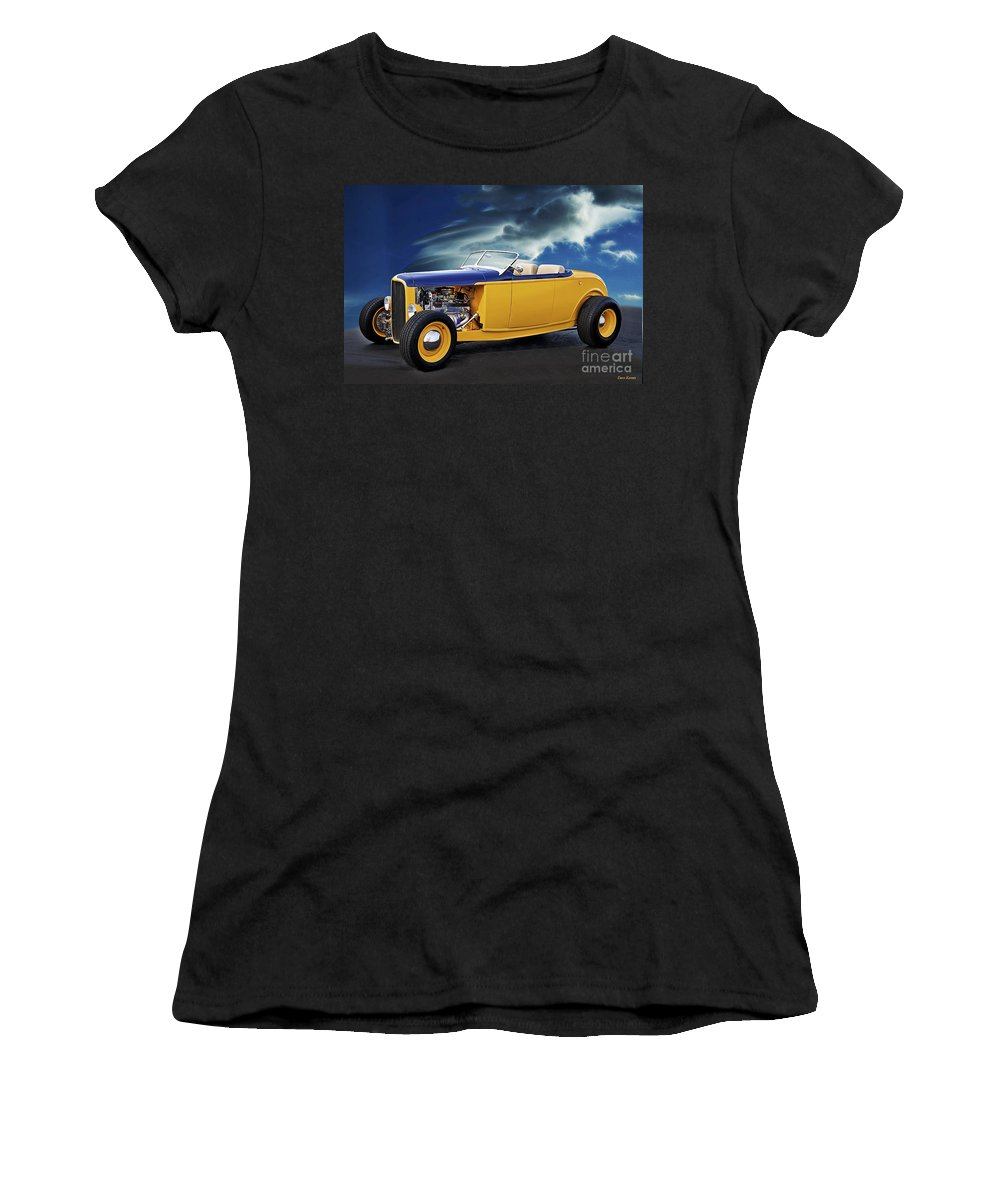 Auto Women's T-Shirt (Athletic Fit) featuring the photograph 1932 Ford Roadster L by Dave Koontz