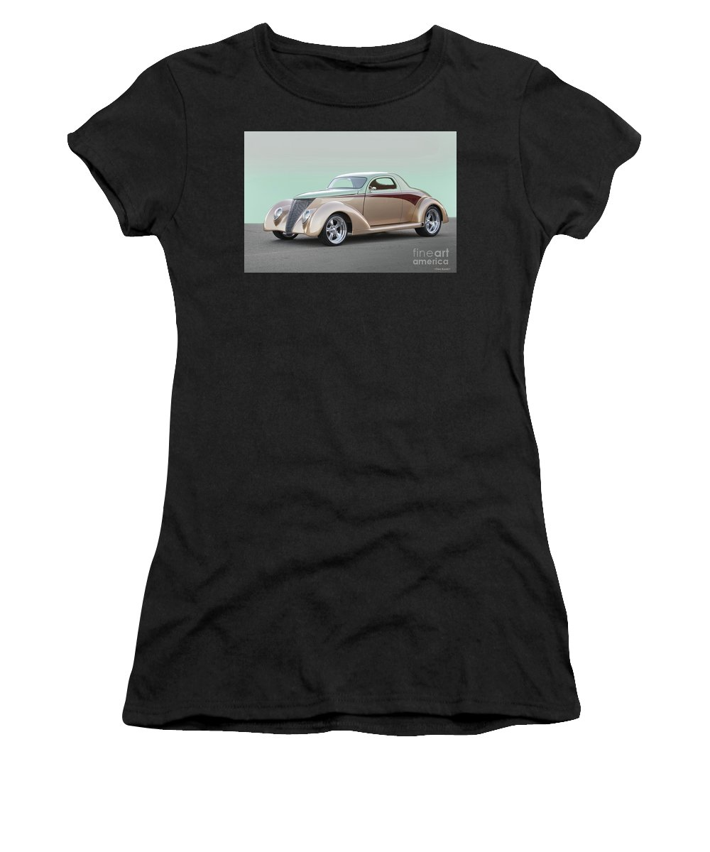 Auto Women's T-Shirt featuring the photograph 1937 Ford 'high End' Coupe I by Dave Koontz