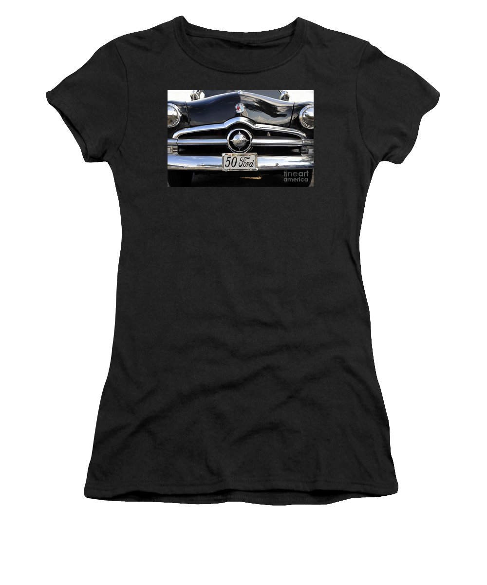 Ford Women's T-Shirt (Athletic Fit) featuring the photograph 1950s Ford by David Lee Thompson