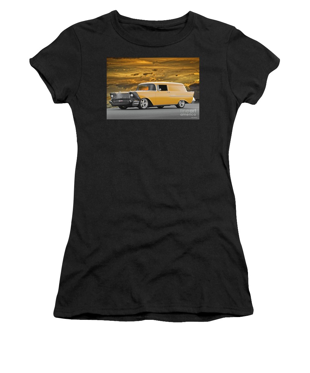 Auto Women's T-Shirt featuring the photograph 1957 Chevrolet Sedan Delivery II by Dave Koontz